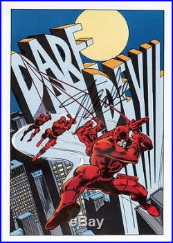 Vintage Marvel 1978 DAREDEVIL Pin up Poster HAND SIGNED by STAN LEE w COA