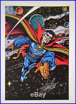 Vintage Marvel 1978 DOCTOR STRANGE Pin up Poster HAND SIGNED by STAN LEE w COA