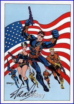 Vintage Marvel 1978 NICK FURY S. H. I. E. L. D. Poster HAND SIGNED STAN LEE w COA