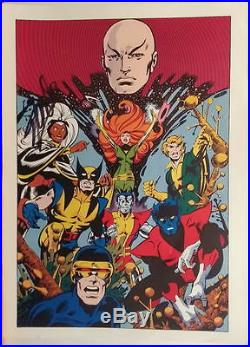 Vintage Marvel 1978 UNCANNY X-MEN Pin up Poster HAND SIGNED by STAN LEE