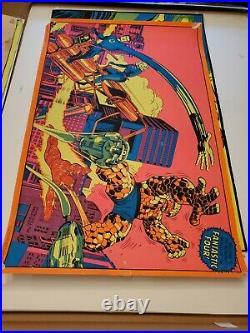 Vintage Near Mint Marvel 1971 Third Eye Fantastic Four Blacklight Poster TE4012