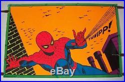 Vintage SPIDERMAN 1971 THIRD EYE #4016 black light poster 21 x 33