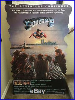 Vintage Superman II Lobby Movie Standee Poster Rare Reeve 1981