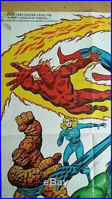 Vintage The Mighty World Of Marvel Uk Ultra Rare Promotional Poster #1 1972