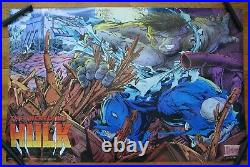 Vintage Todd McFarlane Incredible Hulk Poster 1989 Marvel Press 22x34