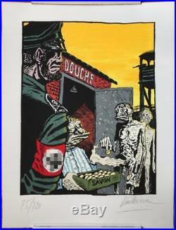 Vuillemin Grande sérigraphie 120 ex. Signée 50/65cm humour noir (Neuf)