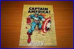 WEETIES POSTER captain america NEWTON NABISCO marvel COMIC CEREAL BOX no strange