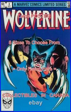 WOLVERINE 1982 Claws CROSSBOW = ALL 4 POSTERS Comic Book 8 SIZES 18 3 FEET