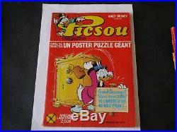 Walt Disney Picsou Magazine N°1 Avec Poster Puzzle Géant Rare
