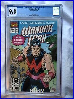 Wonder Man # 1 CGC 9.8 1991 White Pages With Poster Rare Graded Copy