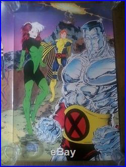 X-MEN Triptych I, II, III Posters #85, #86, #87 Jim Lee Art Marvel Comics 1990