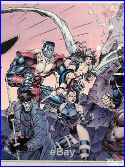 X-Men 1 SIGNED x3 litho poster #1836/2500 1991 Frame & Matte PRISTINE 3' X 1.5