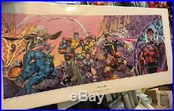 X Men 1991 Marvel Rare Lithograph Print Signed x3 Jim Lee Original