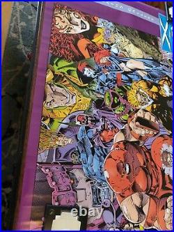 X-men Villains Gallery Poster Jim Lee Art Very Rare 1992 Marvel Comics Magneto